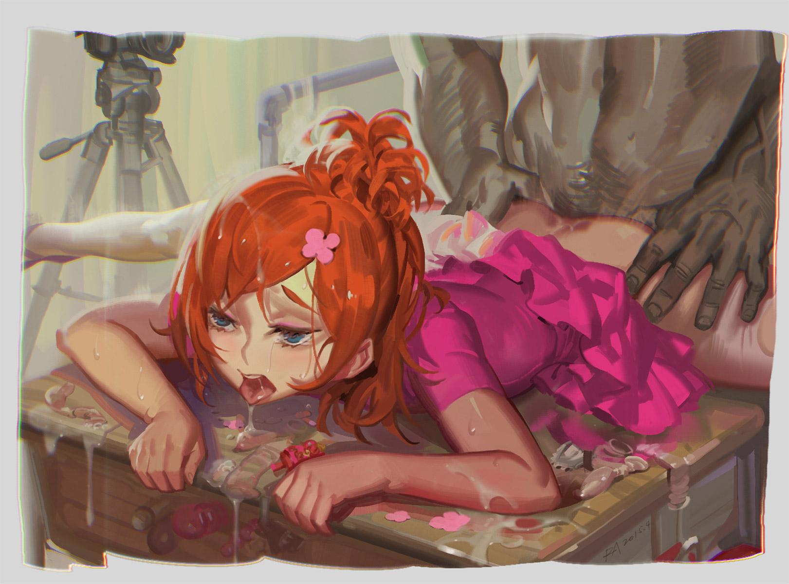 【寝バックエロ画像】力が入らなくなるぐらい感じてベッドに打ち付けられている女の子のイラスト集! 20