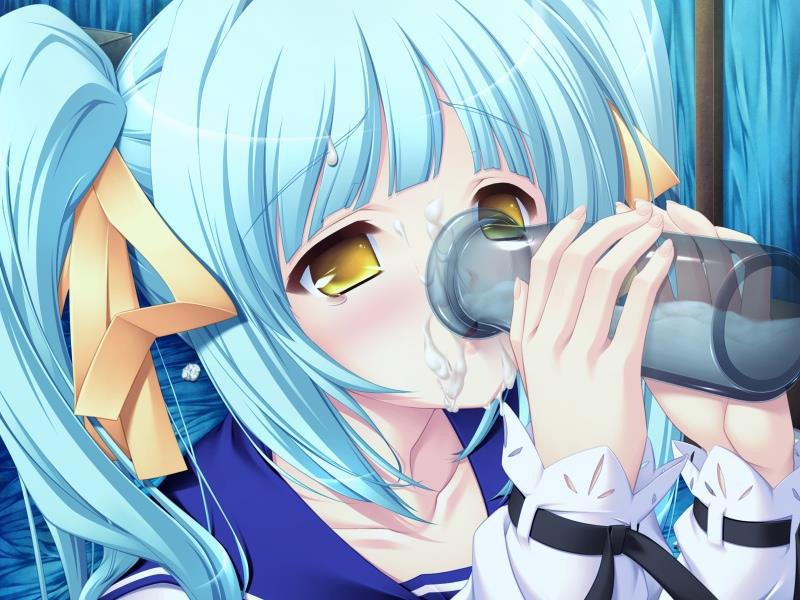 【ごっくんエロ画像】精子を美味しそうに飲み干そうとしているごっくんイラストまとめ! 26