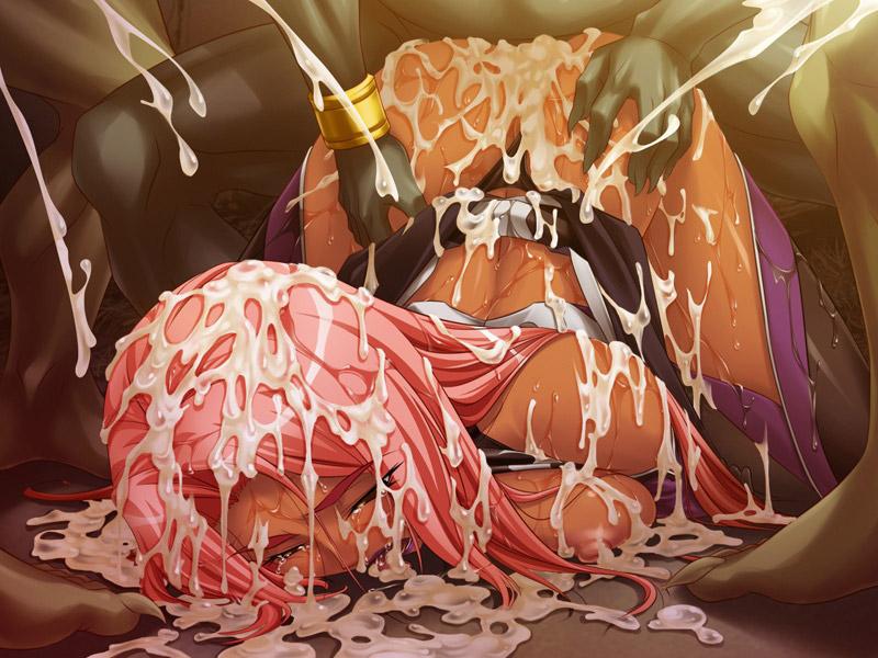 【ザーメンエロ画像】ただでさえエロい肉体を精子でさらにエロくなっているぶっかけイラストまとめ! 40