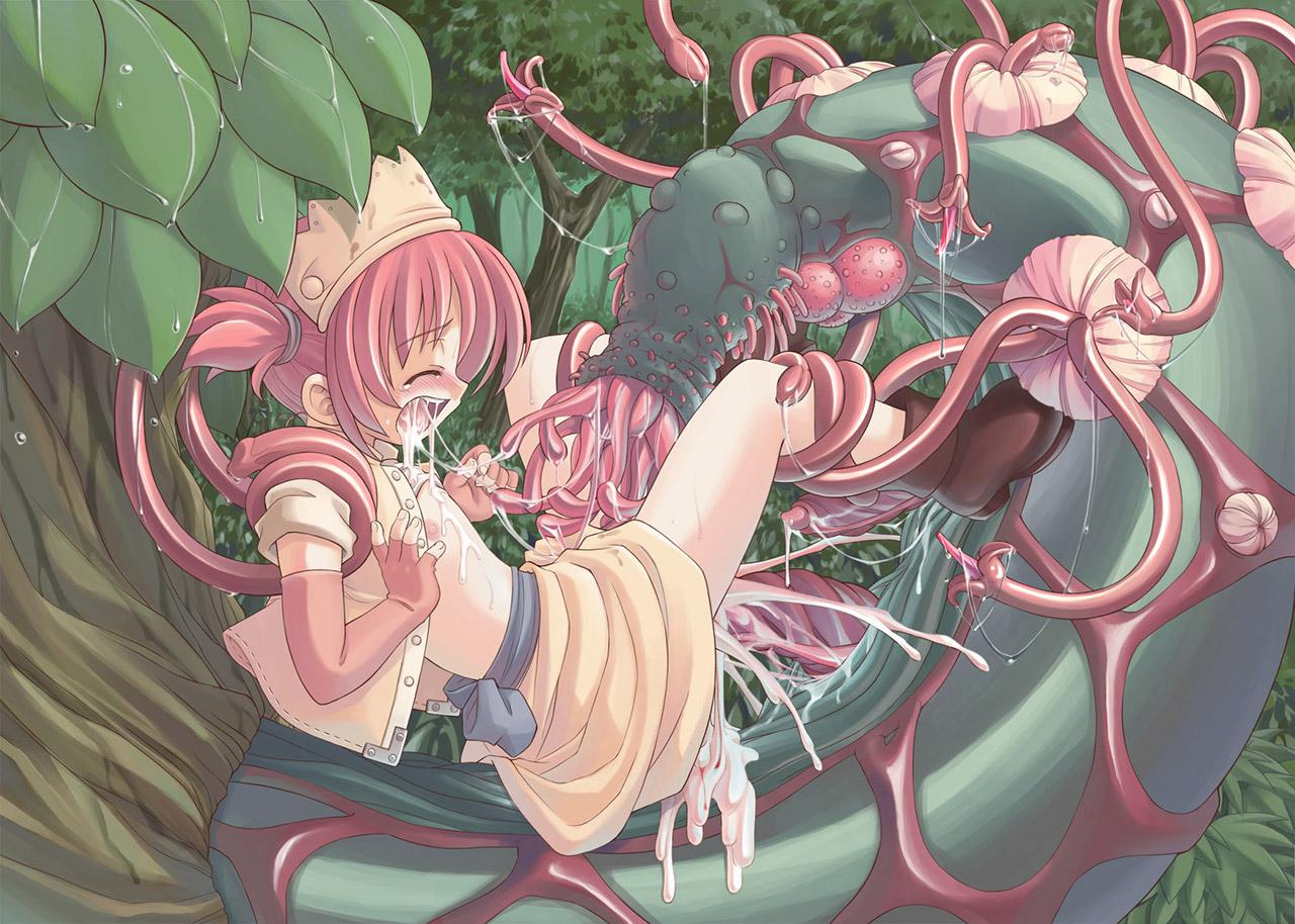 【触手エロ画像】生まれて初めてオナニーのおかずにしたのは触手系のエロマンガでした! 12