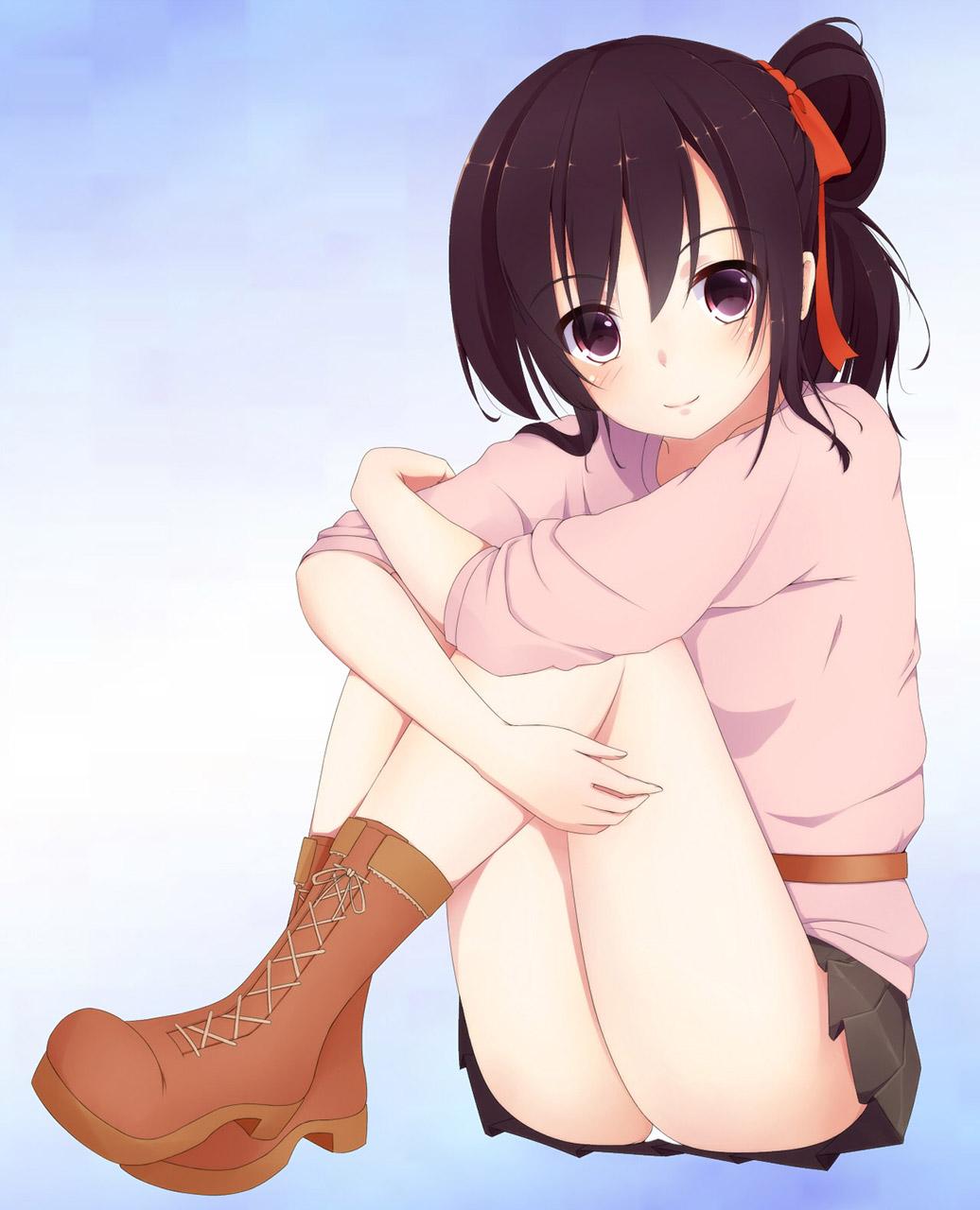 【体育座りエロ画像】普通に体育座りしているだけの女の子に感じる愛しさwww 10
