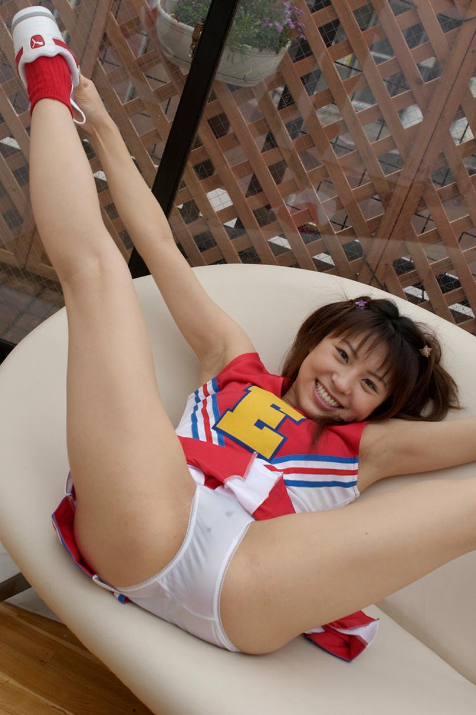【チアガールエロ画像】股間をオッキッキさせるためだけに応援してくれるチアガールコスの女の子たち! 15