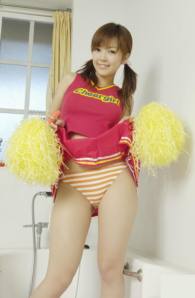 【チアガールエロ画像】股間をオッキッキさせるためだけに応援してくれるチアガールコスの女の子たち! 21
