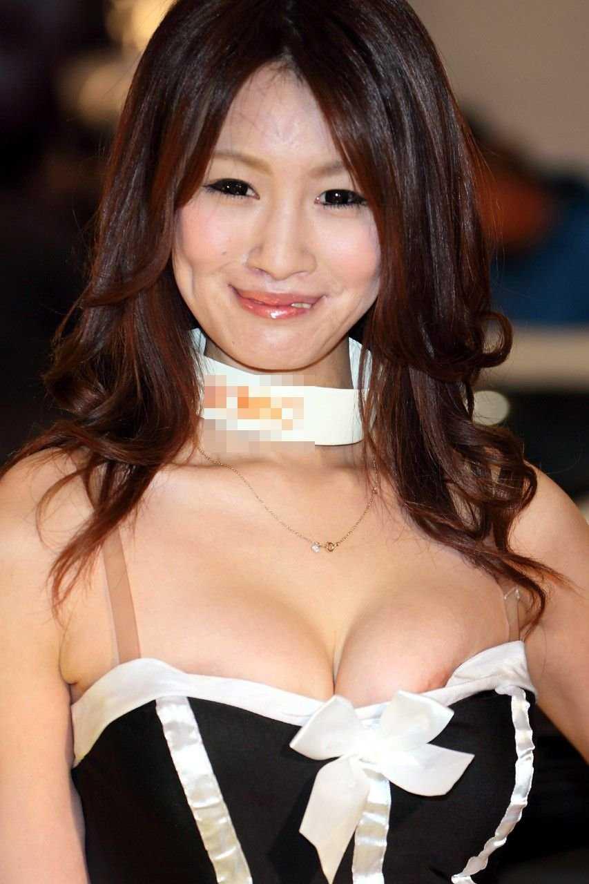 【胸チラエロ画像】現代日本では谷間や乳首が見えてしまっても問題ないらしいwww 13