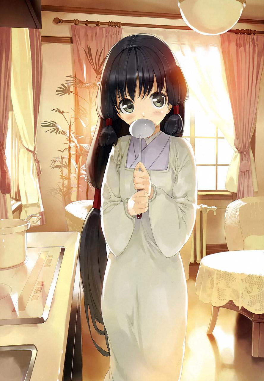 【割烹着エロ画像】割烹着とか和服にエプロン姿が似合う女性と結婚したいんです!!! 04