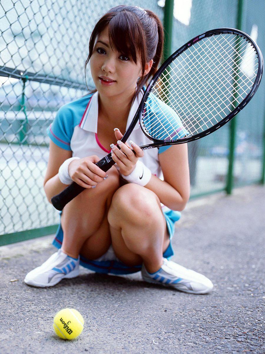 【コスプレエロ画像】テニスウェアの清純さにエロスを感じずにはいられないwww 03