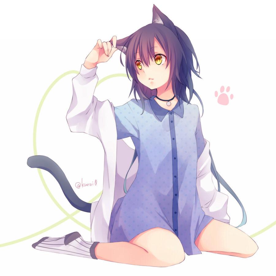 【猫耳エロ画像】リアルで語尾に「にゃん」を付けると引くけど、二次元なら許せるwww 20