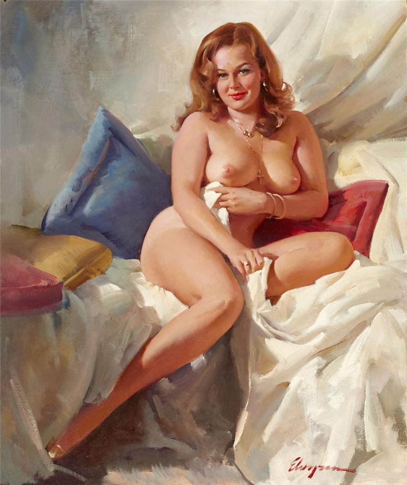 【絵画エロ画像】ガチでアートな絵画に描かれたヌードに興奮してしまったんだがwww 34