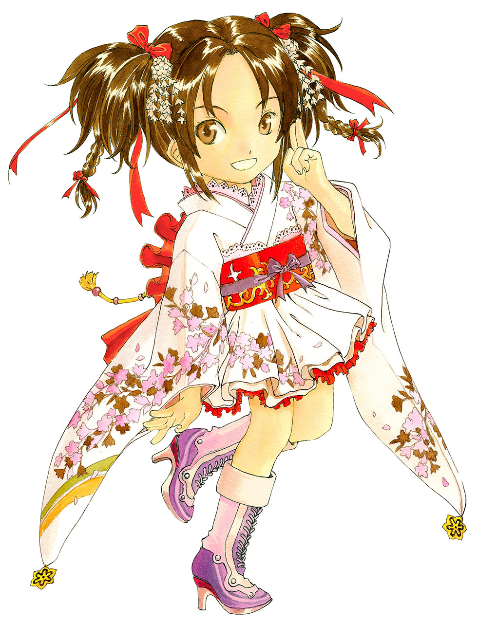 【コスプレエロ画像】ミニスカ着物やゴス系などのコスプレをした美少女のイラストまとめ! 05