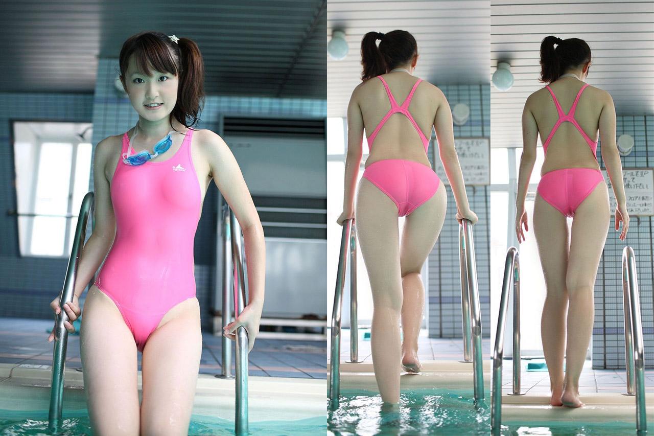 【競泳水着エロ画像】競技用のガチ水着のはずなのにエロく見える競泳水着ってどうなのwww 32