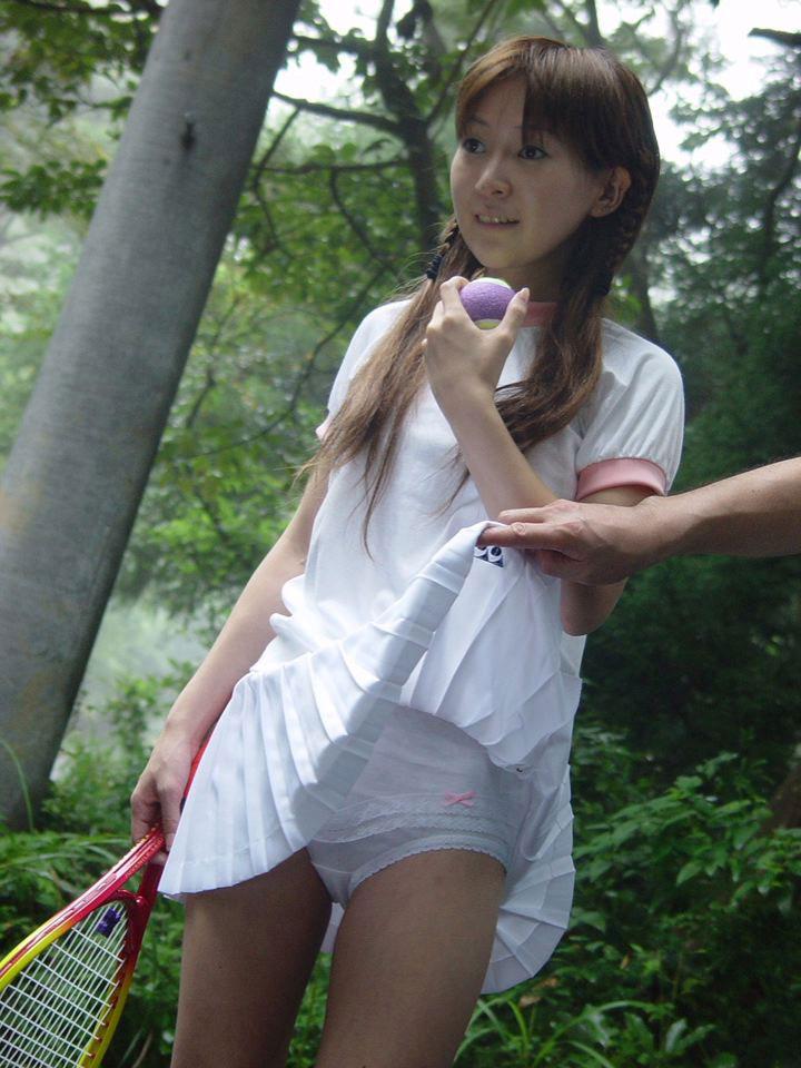 【テニスウェアエロ画像】元テニス部の俺がスパークしたテニスコスプレ画像たち! 19