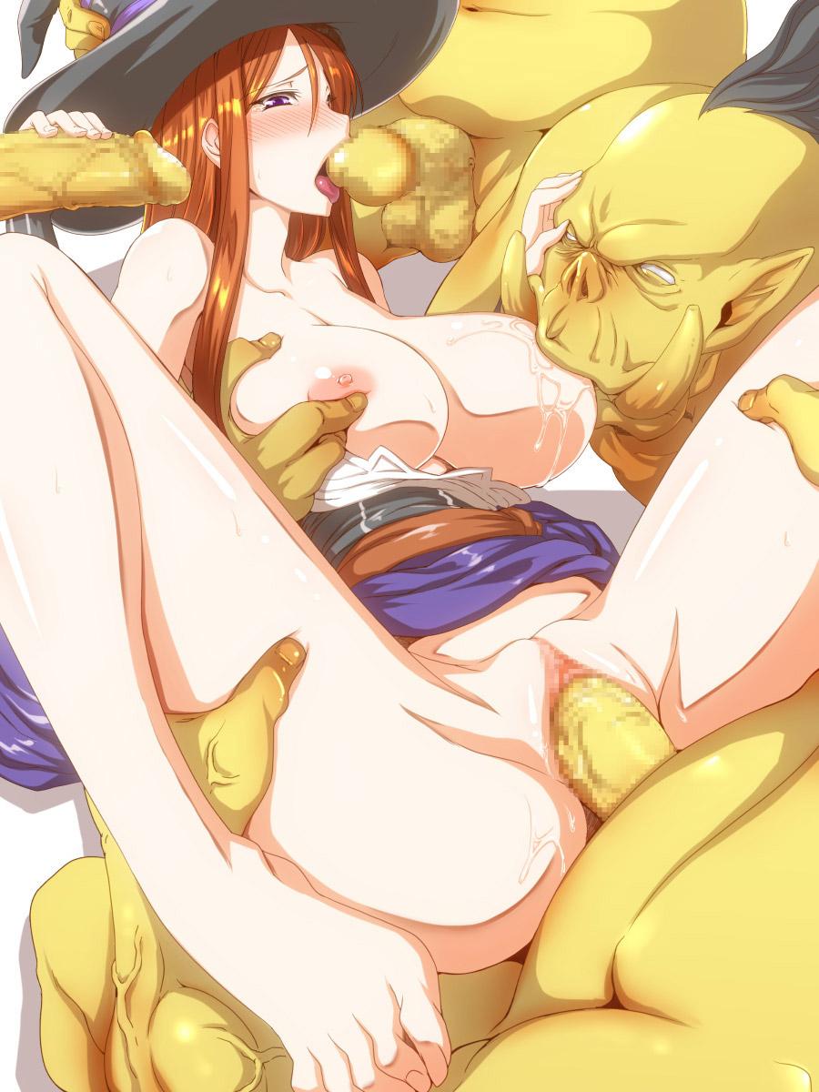 【異種姦エロ画像】ファンタジー世界でモンスターや触手に犯されるキャラクターに興奮を隠せない! 07